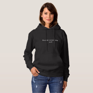 Corporate evil womens hoodie 2
