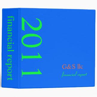 Corporate Financial Report, plain/DIY neon blue Vinyl Binders