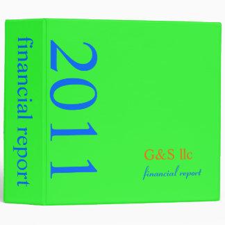 Corporate Financial Report, plain/DIY neon green Binder