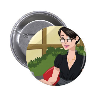 Corporate Girl Button