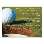 """Corporate Golf Event Invitations 4.25"""" X 5.5"""" Invitation Card"""