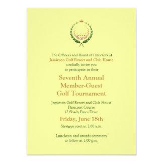 """Corporate Golf Tournament Invitation 6.5"""" X 8.75"""" Invitation Card"""