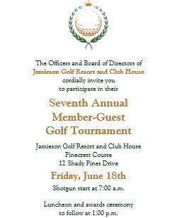 Tournament invitations zazzle corporate golf tournament invitation stopboris Images