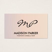 Corporate Gradient Script Monogram Business Card
