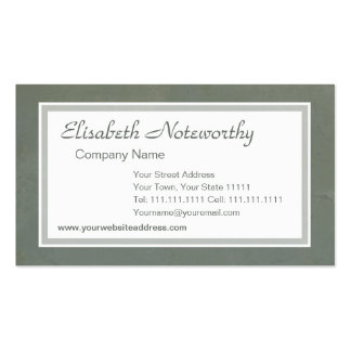 Corporate Gray Green Italian Grunge Vintage Effect Business Card