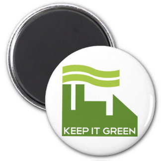 Corporate Green Recycle 2 Inch Round Magnet
