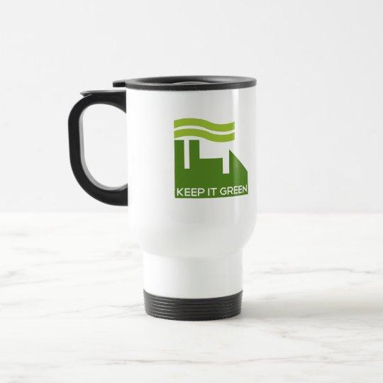 Corporate Green Recycle Travel Mug