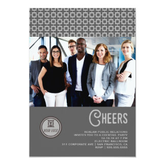 Corporate Grey Cheers Holiday Card