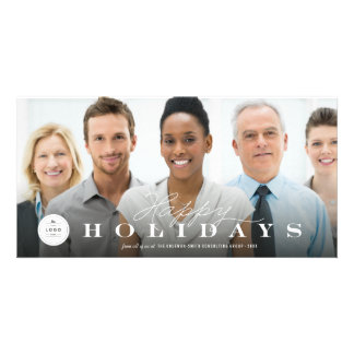 Corporate Happy Holidays Logo Business Photo Card