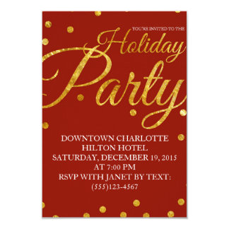 Corporate Holiday Christmas Party Invitation