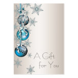 Corporate Holiday Gift Certificates Large Business Cards (Pack Of 100)