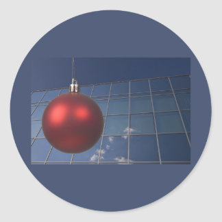 corporate holiday greetings classic round sticker