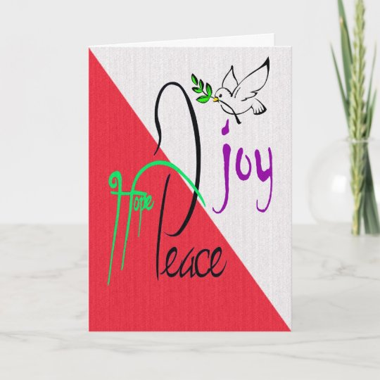 Corporate Holiday Greetings - Hope/Peace/Joy/Dove