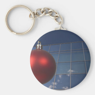 corporate holiday greetings keychain