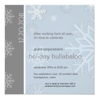 "Corporate Holiday Party Invitation 5.25"" Square Invitation Card"
