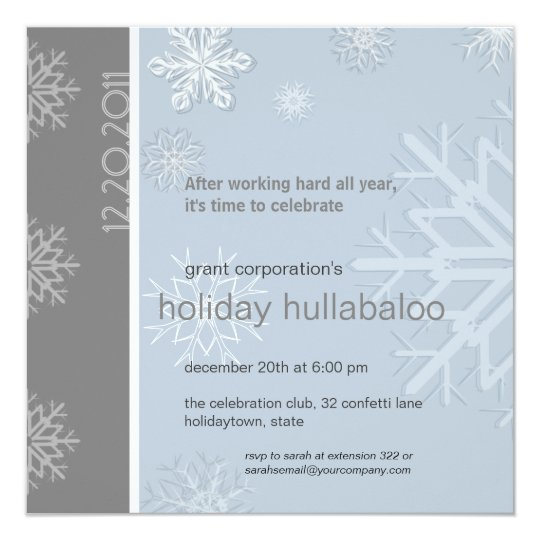 work holiday party invitation