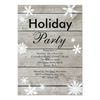 Corporate Holiday Party Invitation on Barnboard