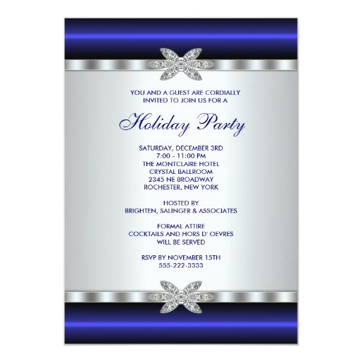 Corporate Holiday Party Invitations Blue Event