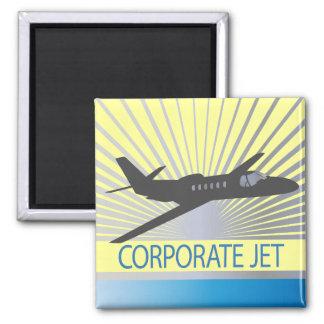 Corporate Jet Aircraft Magnet