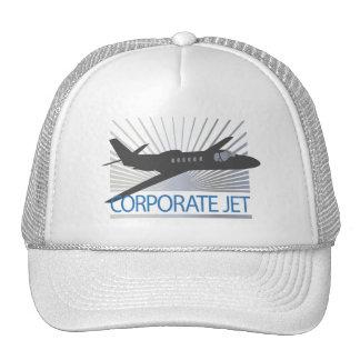 Corporate Jet Aircraft Mesh Hats