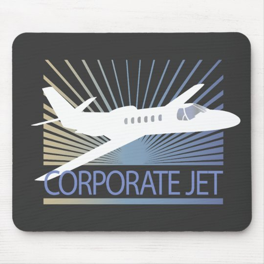 Corporate Jet Aircraft Mouse Pad