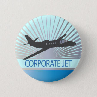 Corporate Jet Aircraft Pinback Button