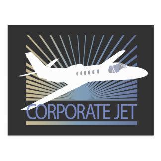 Corporate Jet Aircraft Postcard