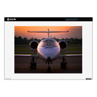 """Corporate Jet Plane Travel Decal For 15"""" Laptop"""