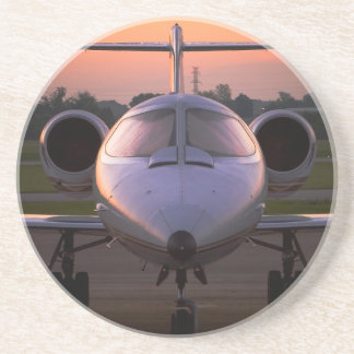 Corporate Jet Plane Travel Drink Coaster