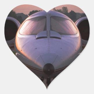 Corporate Jet Plane Travel Heart Sticker