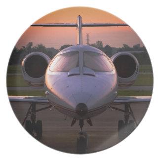 Corporate Jet Plane Travel Melamine Plate