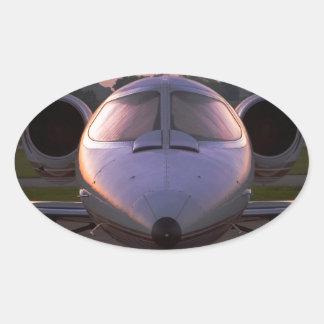 Corporate Jet Plane Travel Oval Sticker