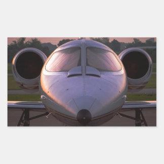 Corporate Jet Plane Travel Rectangular Sticker