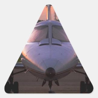 Corporate Jet Plane Travel Triangle Sticker