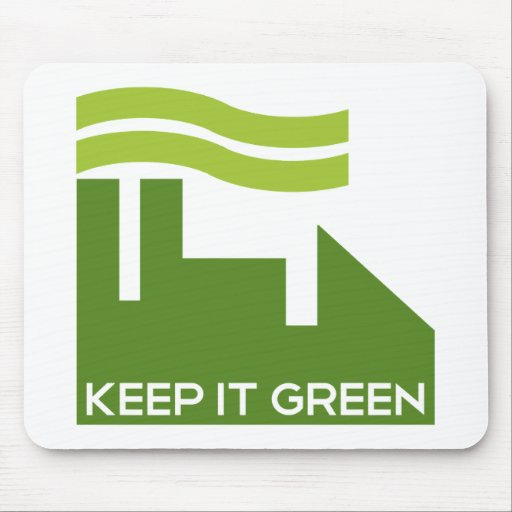 Corporate Keep Green Mouse Pad