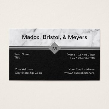 Lawyer Themed Corporate Law Business Cards