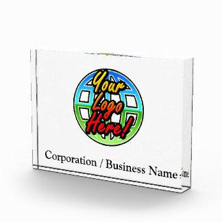 Corporate Logo de encargo/placa conocida del escri