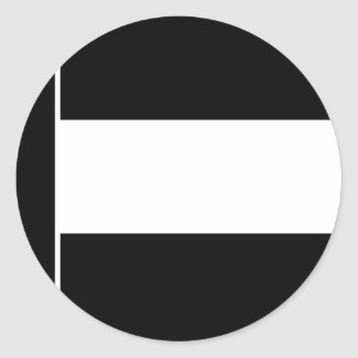 Corporate Logo Flag Classic Round Sticker
