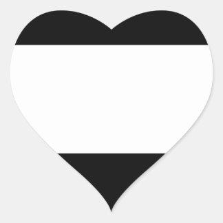 Corporate Logo Flag Heart Sticker