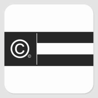 Corporate Logo Flag Square Sticker