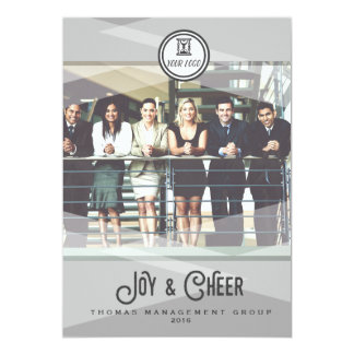 Corporate Modern Joy & Cheer Holiday Card