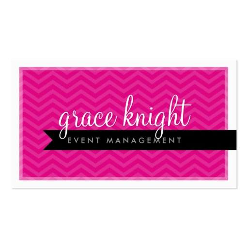 CORPORATE modern simple chevron hot magenta pink Business Cards