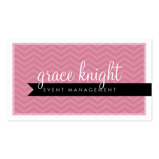 CORPORATE modern simple chevron rose pink Double-Sided Standard Business Cards (Pack Of 100)