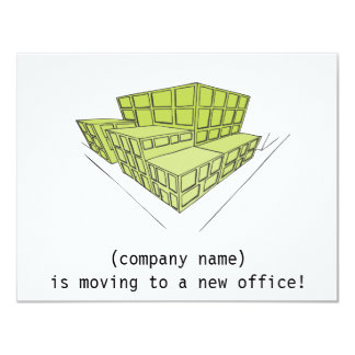 Corporate moving card - green buildings