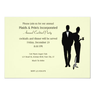 Corporate Party Black Tie Card