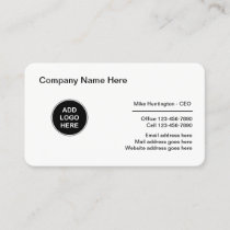 Corporate Professional Logo Design Business Card