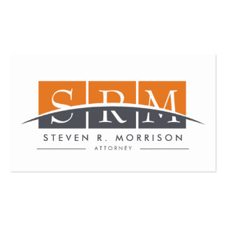 Corporate Professional Stylized Monogram Orange Pack Of Standard Business Cards