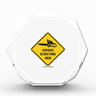 Corporate Restructuring Ahead Yellow Diamond Sign Award
