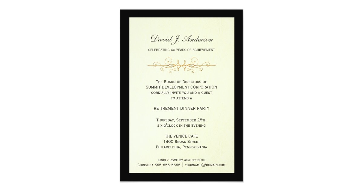 Corporate Retirement Party Invitations | Zazzle.com