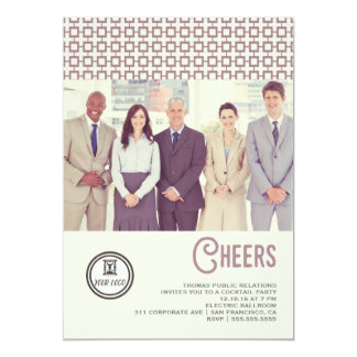 Corporate Retro Cheers Holiday Card